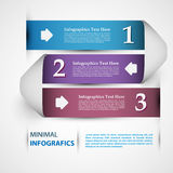 Un due tre - punti di carta di progresso per l'esercitazione Immagine Stock Libera da Diritti
