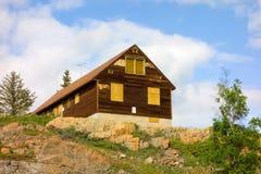 Un edificio en una minería cerrada en Yellowknife Fotos de archivo libres de regalías