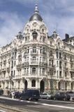 Un edificio hermoso en Madrid Fotografía de archivo libre de regalías