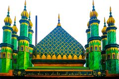 Un edificio muy magnífico de la mezquita imagen de archivo