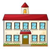 Un edificio scolastico illustrazione vettoriale