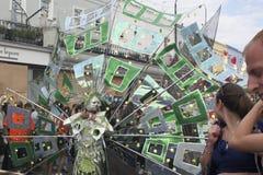 Un ejecutante en el carnaval de Notting Hill Fotos de archivo libres de regalías