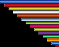 Un ejemplo abstracto de la línea gruesa en diversos colores Imágenes de archivo libres de regalías