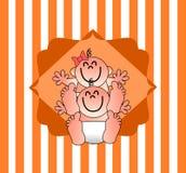 Un ejemplo agradable para una invitación de la fiesta de bienvenida al bebé Imagen de archivo libre de regalías