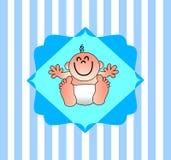 Un ejemplo agradable para una invitación de la fiesta de bienvenida al bebé Imagen de archivo