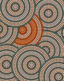 Un ejemplo basado en el estilo aborigen del depicti de la pintura del punto Foto de archivo