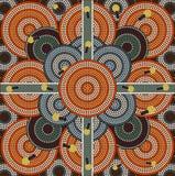 Un ejemplo basado en el estilo aborigen del depicti de la pintura del punto Fotografía de archivo libre de regalías