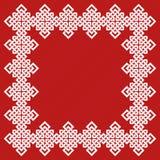 Un ejemplo chino del vector del marco del nudo Imagen de archivo libre de regalías