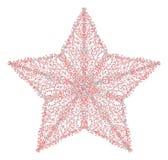 Un ejemplo de la estrella hecha de descensos Imagen de archivo
