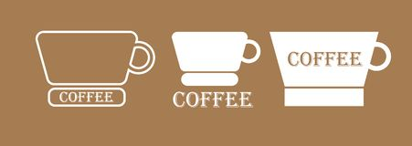 Un ejemplo de un logotipo del café Imagen de archivo