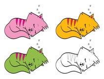 Gatos lindos de la historieta Imagen de archivo