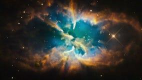 Un ejemplo de una nebulosa galáctica en espacio exterior ilustración del vector