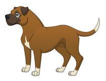 Perro del boxeador stock de ilustración