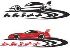 emblema del coche deportivo stock de ilustración
