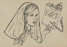 Fumador ilustración del vector