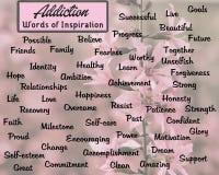 Un ejemplo gráfico de las palabras inspiradoras para la gente que está sufriendo de la drogadicción Foto de archivo libre de regalías