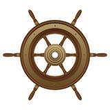 Un ejemplo hermoso del diseño del vector del timón stock de ilustración