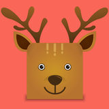 Un ejemplo lindo del vector de los ciervos Imágenes de archivo libres de regalías