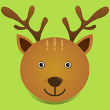 Un ejemplo lindo del vector de los ciervos Foto de archivo libre de regalías