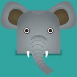 Un ejemplo lindo del vector del elefante Fotos de archivo libres de regalías