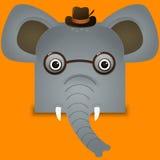 Un ejemplo lindo del vector del elefante Foto de archivo libre de regalías