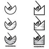 un ejemplo que consiste en una imagen de un cincel que ara un árbol ilustración del vector