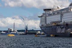 Un ejercicio del rescate del mar en Kiel Fjord, Kiel, Alemania Fotografía de archivo libre de regalías