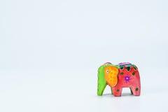 Un elefante colorido 2 del juguete Imagen de archivo libre de regalías