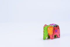 Un elefante colorido 1 del juguete Foto de archivo libre de regalías