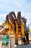 Un elefante de madera tallado fotografía de archivo libre de regalías