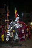 Un elefante del ceremonial desfila a través de las calles de Kandy en Sri Lanka durante el Esala Perahera Fotografía de archivo