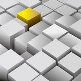 Un elemento abstracto compuesto de cubos libre illustration
