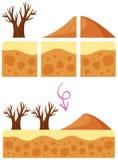 Un elemento del juego de la duna del desierto stock de ilustración