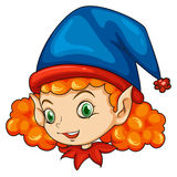 Un elfo che porta un cappello blu Immagini Stock