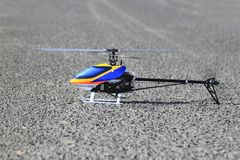 Un elicottero di modello Fotografia Stock