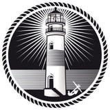 Emblema del faro Fotografia Stock Libera da Diritti