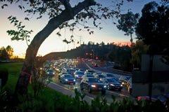 Un embouteillage sur la route de moines à San Diego photos libres de droits