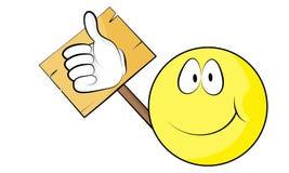 Un emoticon de la sonrisa Imágenes de archivo libres de regalías