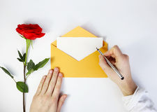 Un endroit pour des inscriptions lettre à votre aimée Photographie stock