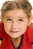 Un enfant avec l'expression drôle images stock