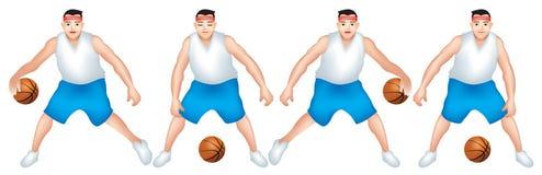 Un enfant si habile dans le match de basket illustration de vecteur