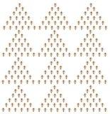Un enjambre de abejas en un fondo blanco Imagen de archivo libre de regalías