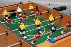 Un ensemble coloré de partie de football de table image libre de droits