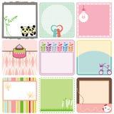 Un ensemble d'étiquettes/d'étiquettes en pastel Image stock