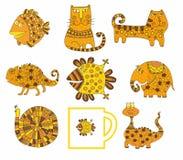Un ensemble d'animaux mignons Illustration Stock