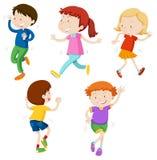 Un ensemble d'enfants de danse illustration libre de droits