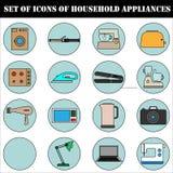 Un ensemble d'icônes des appareils électrodomestiques Image stock