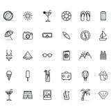 Un ensemble d'icônes d'été Photos libres de droits