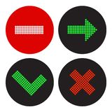 Un ensemble d'icônes dans le style d'un feu de signalisation Photos stock