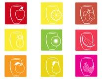 Fruit icons2 Image stock